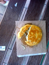 whitebait can solve most problems. its a fried pancake filled with fish fry (the white worm-like forms)